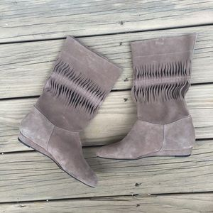 NEW 7 for all mankind Gemma Suede Slouch Boots